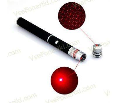 Красная лазерная указка с насадкой