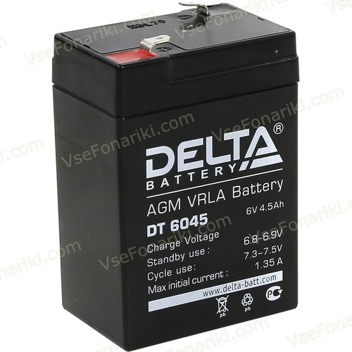 Фото 1 аккумулятора Delta DT 6045