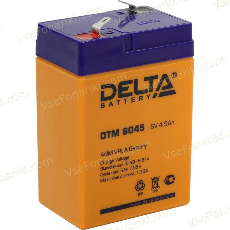 Фото 1 аккумулятора Delta DTM 6045