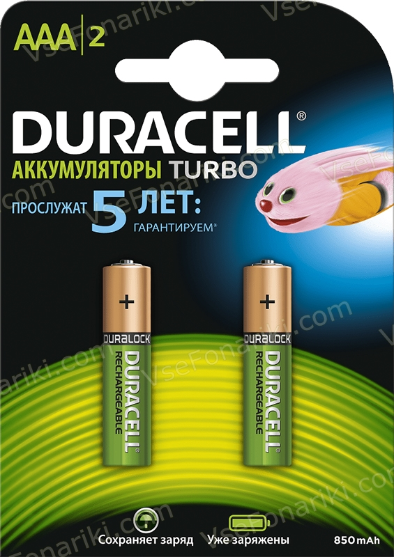 Фото 1 аккумулятора Duracell AAА Turbo 850mAh