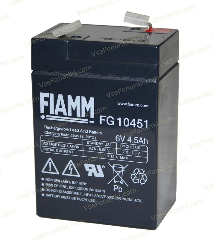 Фото 1 аккумулятора FIAMM FG 10451