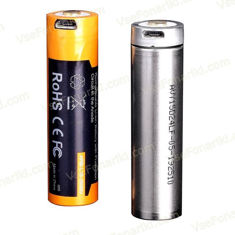 Фото 3 аккумулятора Fenix 18650 3500mAh USB