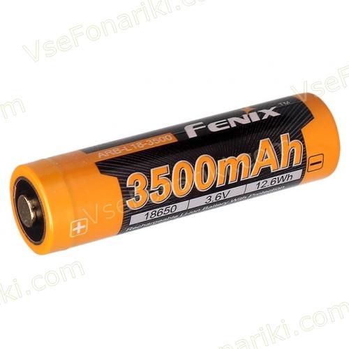 Фото 1 аккумулятора Fenix 18650 3500mAh
