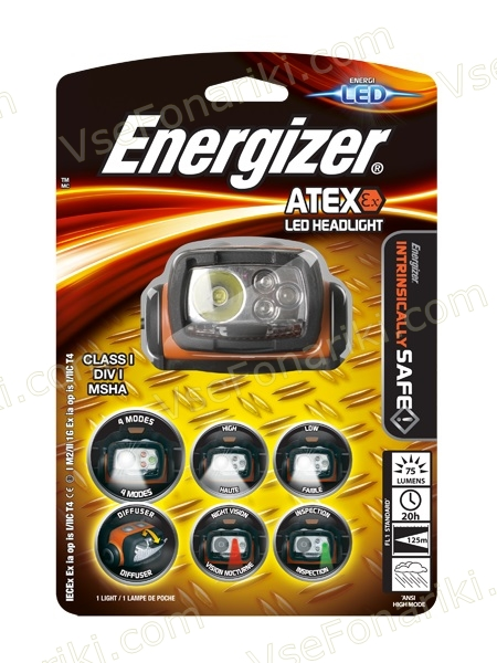 Фото 1 фонаря Energizer ATEX Headlight