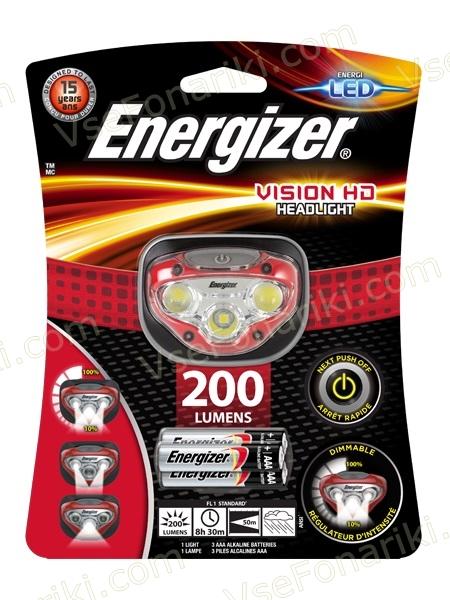 Фото1 фонаря Energizer VISION HD