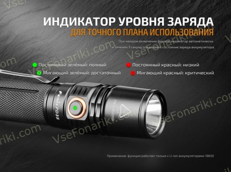 Фото 20 фонаря Fenix PD35v2.0