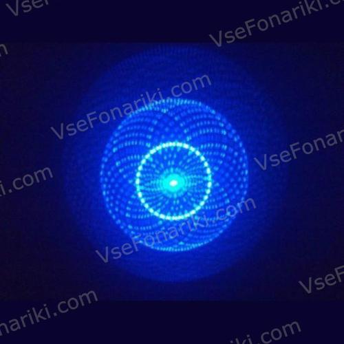 Фото Синяя лазерная указка с насадками - 6