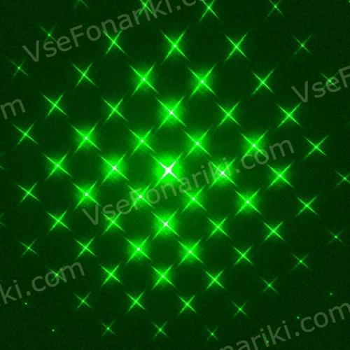 Фото Зеленая лазерная указка с 5 насадками - 4